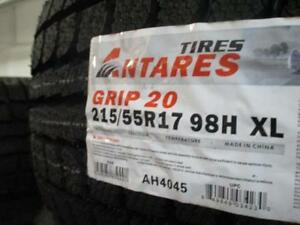 215/55 R17 ANTARES GRIP20 WINTER TIRES *BRAND NEW*