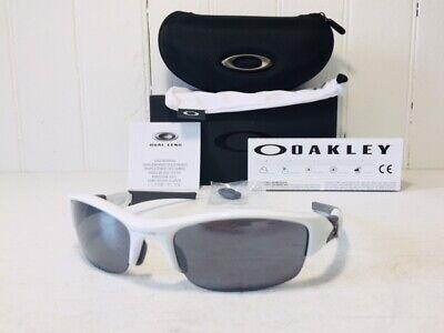 e87c2de24ca3 OAKLEY 03-882 FLAK JACKET Polished White w Black Iridium Lenes Sport  Sunglasses