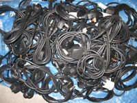Computer power cable IEC C13 Socket Lead to UK 3 pin plug, 45. Job Lot