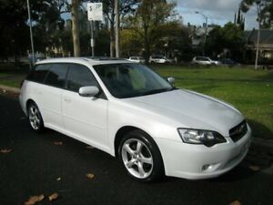 2004 Subaru Liberty MY04 2.5I Safety White 4 Speed Auto Elec Sportshift Wagon North Melbourne Melbourne City Preview