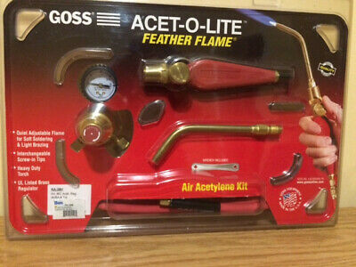1 Kit Goss ACET-O-LITE Threaded Style Acetylene Kit with BA2 B