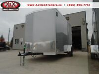 EXTRA HEIGHT 6 X 12 CARGO TRAILER - 2016 HAULIN ENCLOSED $3994