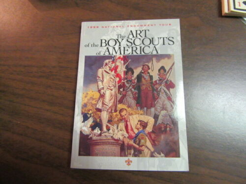 1999 The Art of the Boy Scouts of America Tour Book, Signed by Joe Csatari    mb