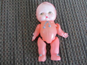 Pink Celluloid Baby Doll & Plastic Doll Rattle -priced individua