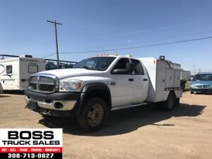2008 Dodge Ram 4500 4x4 SLT!! LOW KM!! Service Body!! Diesel!!