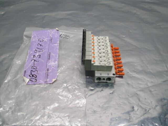 SMC SS5YJ3-UIB970351 Manifold Assy w/ 8 SYJ3140-5M0Z Valves, 323806