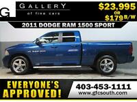 2011 DODGE RAM SPORT CREW *EVERYONE APPROVED* $0 DOWN $179/BW