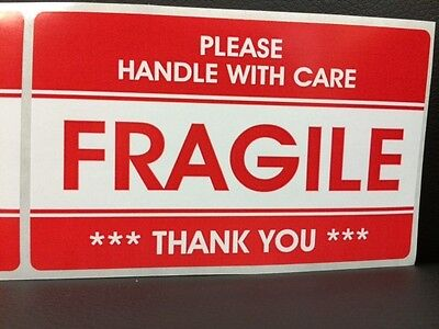 250 3.2x5.2 Fragile Stickers Handle With Carethank You Stickers Fragile Ship New