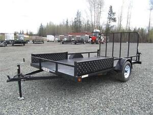 7' x 12' WITH BRAKES & SIDE-LOAD