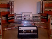 TDK D CASSETTE TAPES x 20 JOB LOT W/ CASES : USED ONCE ONLY. 1979-1982 ISSUE. See images for offers.