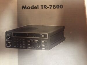 Kenwood 2 mtr FM Transceiver  TR 7800. with hand mic