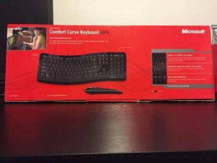Microsoft Comfort Curve Keyboard 3000 South Yarra Stonnington Area Preview