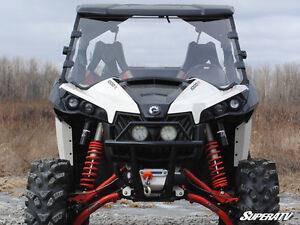 Can-Am Maverick Scratch Resistant Full Windshield ATV TIRE RACK