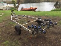 Boat Trailer for 5m RIB or similar - Swing Beam Roller type