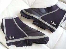 B'Twin Cycle overshoes black neoprene Size UK size 6.5 to 8.5