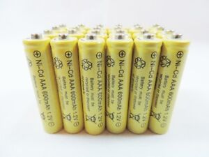 24 pcs Rechargeable NiCd AAA 600mAh Ni-Cad Batteries for Solar-Powered Light B24