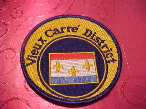 NEW ORLEANS LOUISIANA VIEUX CARRE DIST. POLICE PATCH SHOULDER SIZE NEW 3 1/2 IN