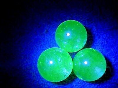 3 ULTRA VIOLET UV REACTIVE (FLORESCENCE) VASELINE URANIUM  GLASS MARBLES $5.99