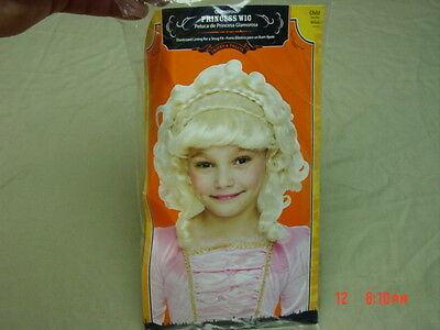 NWT Halloween Costume Wig Girl Childs Princess Blonde