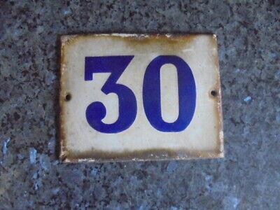 ancienne plaque emmaillée numerotation de maison