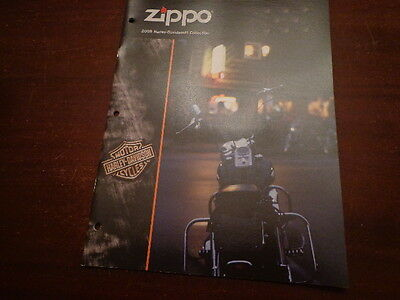 HARLEY DAVIDSON ZIPPO LIGHTER CATALOG 2008 UNUSED