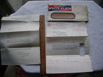1937 White Flash Fuel Ad Cover- Letter about Sponsoring Live Football Broadcasts