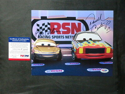 Bob Costas   Darrell Waltrip Rare  Signed Cars 8X10 Photo Psa Dna Cert