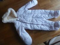 Jasper Conran baby girl snowsuit