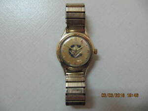 Very Rare Halsa 25 Jewels Grand MasterMason AutomaticWatch 1950s