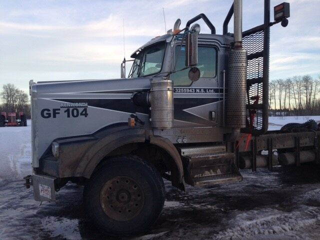 Kijiji Edmonton Heavy Trucks: 2007 Kenworth Logging Truck Tri Drive Set Back Axle