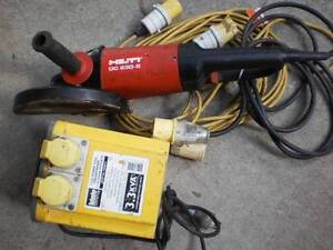 HILTI ANGLE GRINDER 9 INCH MODEL DC 230-5 & TRANSFORMER Leichhardt Leichhardt Area Preview