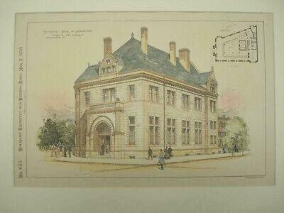 National Bank of Washington, Washington, DC, 1889, Original Hand Colored