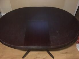 Circular Mahogany Dining room table