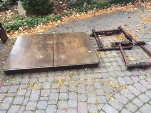 Free antique solid wood dining table.