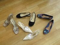 Four pairs quality ladies shoes - hardly worn. All size 38.