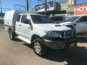 2013 Toyota Hilux KUN26R MY12 SR White Manual Utility Granville Parramatta Area Preview