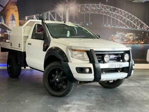 2012 Ford Ranger PX XL White 6 Speed Sports Automatic Cab Chassis Prospect Blacktown Area Preview