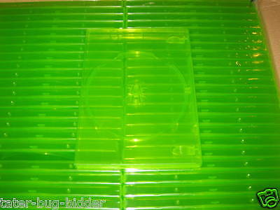 Lot Of 5 Replacement Game Cases Clear Green New Retail Game Box Xbox 360