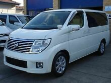 2008 Nissan Elgrand E51 350XL Luxury White 5 Speed Tiptronic Wagon Caringbah Sutherland Area Preview