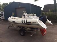 Kayman 420 4 man rib with Engine&Trailer