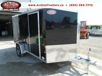PERFECT TWO MOTORCYCLE TRAILER ALL ALUMINUM 7 X 12 W/BRAKES