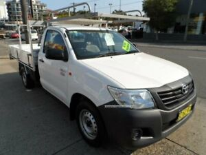 2014 Toyota Hilux TGN16R MY14 Workmate White 5 Speed Manual Cab Chassis Rockdale Rockdale Area Preview