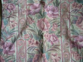 """pair curtains rose red leaf floral design each 62"""" wide x 72"""" long southbourne"""