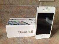 NEGOTIABLE - White iPhone 4s 16g with Box and Charger (Bell)