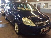 2008 VAUXHALL ZAFIRA EXCLUSIV MPV AUTOMATIC PETROL BLUE 7 SEAT FAMILY CAR SPACIOUS BLUE MOT N SCENIC