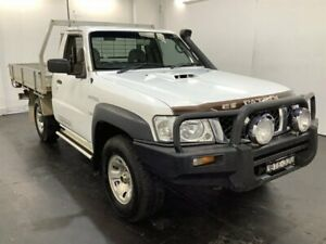 2010 Nissan Patrol GU MY08 DX (4x4) White 5 Speed Manual Coil Cab Chassis