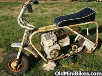 Wanted: Old Mini bikes and parts any condition