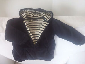 Very soft never worn boy OR girl velour hood jacket from FRANCE