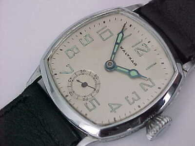 Early Art Deco Man's Waltham In White G.F. Case Just Serviced Nice Timepiece
