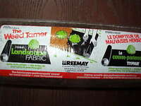 Roll of weed tamer landscape fabric